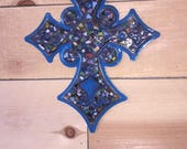 Blue Metal Cross - Countr...