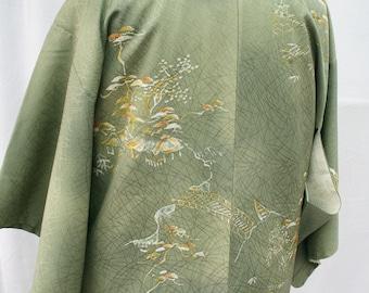 Vintage Japanese Silk Haori Kimono
