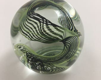 handmade glass paperweight desk sculpture