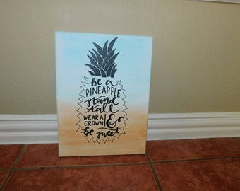 Be A Pineapple Watercolor Canvas