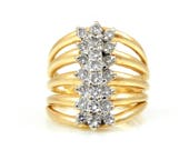 14K Multi-Band Diamond Ri...