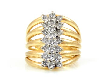 14K Multi-Band Diamond Ring - X4343