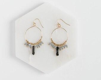 Beaded Dangle Earrings, Bead Hoop Earrings, Dangle Drop Earrings, Dangle Bead Earrings, Dangle Beaded Earrings, Bead Earrings