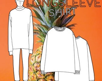 Longsleeve Shirt PDF Sewing Pattern S M L XL