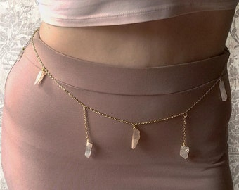 Rose Quartz Natural Body Belly Chain