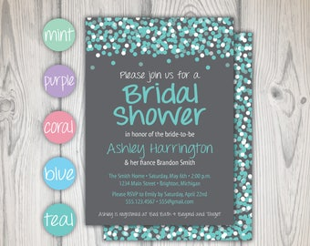 Bridal Shower Invitation | Wedding Shower Invitation | Printable Shower Invitation