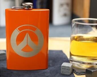 Overwatch - Orange Stainless Steel Hip Flask