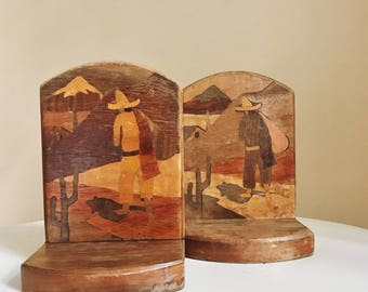 Mexican Scene Bookends