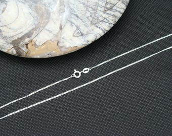 """16"""" 18"""" 24"""" Medium Curb Sterling Silver chain, 925 sterling silver necklace, 925 silver chain, STS"""