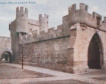 York: Walmsgate Bar ~  Vintage Postcard. ~ Not Posted ~ 1900's.