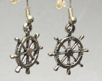 Ships Wheel Earrings