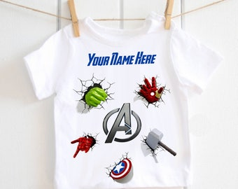 The Avengers children's t-shirt - personalised t-shirt, toddler top, marvel, super hero, baby shower gift, birthday outfit, baby T-shirt