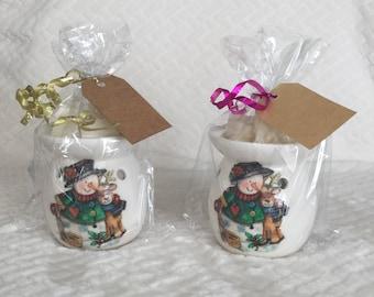 Wax burner gift set oil burner gift set vanilla wax melts teachers gift Christmas present decoupage