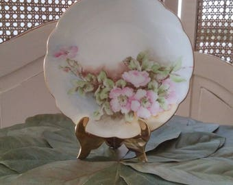 Signed Old Fashioned Roses Bread and Butter Plate
