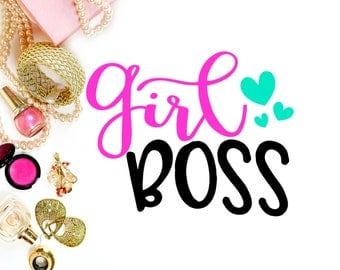 Girl Boss SVG // Girl BOssCut File // Boss Lady Digital File