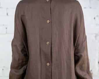 Linen dress woman, linen dress, linen dresses for women, linen tunic, linen overalls /LD0013
