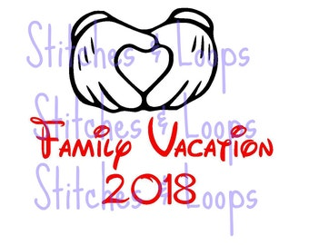 2018 Family Vacation Mickey Custom Disney SVG File for Cricut Silhouette