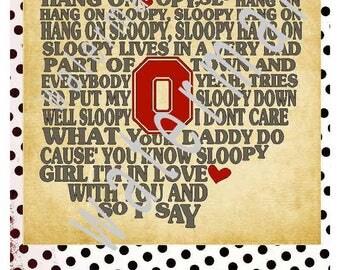 OHIO SVG - Hang on Sloopy - Ohio state SVG -silhouette cameo cricut  Buckeyes svg Ohio state outline Home sweet home Jpeg shirt sign O H I O