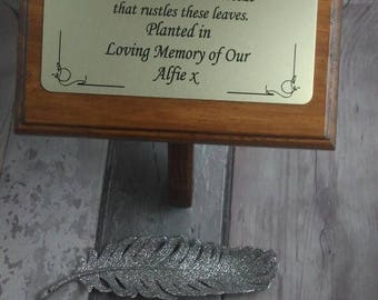 solid wooden memorial plaque,wooden grave marker,grave spike,Solid Wooden Memorial Stake,Grave/Tree Marker, Personalised grave Plaque