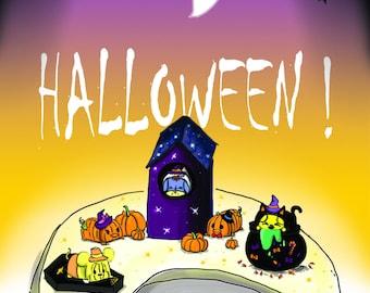 Wallpaper (1440 x 2560 px) tsum tsum Halloween 2017! (Minnie, Mickey, Daisy, Donald, Eeyore, Pooh)