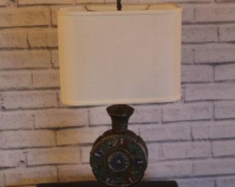 Antique Japanese Champleaue Lamp