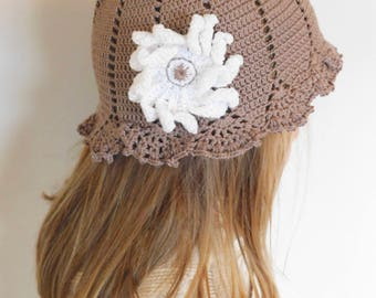 Crochet Girls Summer Hat-Handmade in Canada