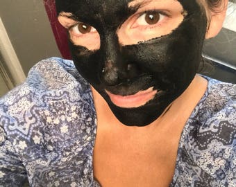 FACE MASK | Detox Face Mask | Pore Cleansing Face Mask | Exfoliating Face Mask | Activated Charcoal | Bentonite Clay | Spinich | Basil |