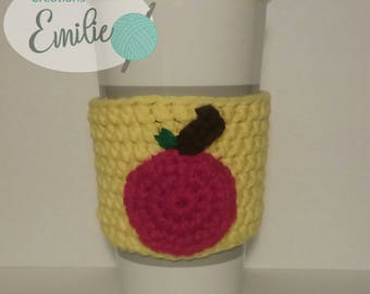 mug Apple for teacher, teacher's cup cozy, sleeve