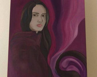 Beauty and Fear Oil Paint on Canvas