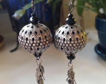 Bali with Swarovski Jet Beaded Earrings