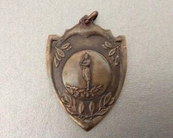 Antique Baseball Medal / 1920s / Sports Medal