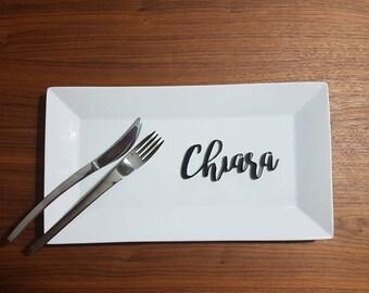 Placeholder name customizing wedding wedding plexiglass acrylic letters