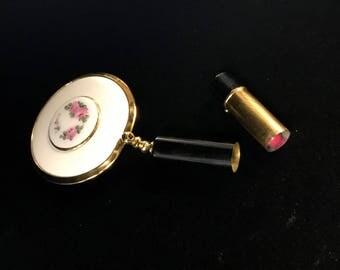 Lipstick & Mirror Open Compact
