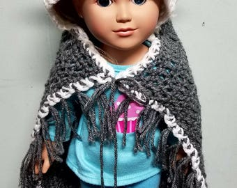 Wolf doll blanket, 18 inch doll blanket, doll blanket