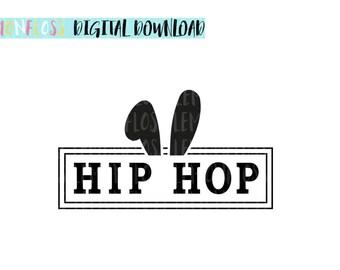 Hip Hop SVG, Easter Svg, Hip Hop Bunny Svg, Cricut SVG File, Silhouette svg, Cricut Cut File, Christian Svg, Vinyl Cutting Designs, Svg