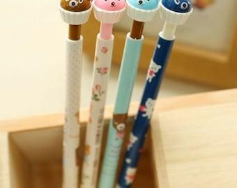 2 Pc Kawaii Bear Cake Mechanical Pencils ~ Cute Pencil, School Supplies, Stationery, Kids Crafts, Novelty Automatic Pencil Cartoon Bears