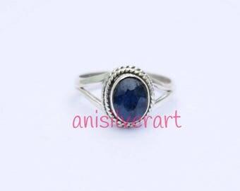Lapis Lazuli Ring, Blue Lapis Ring, Lapis Lazuli Silver Ring, Silver Lapis Ring, Lapis Lazuli Jewelry, Boho Ring, Stone Ring, Gift Ring