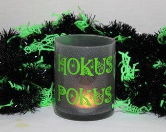 Hocus Pocus, Hocus Pocus Candle, Hocus Pocus Decor, Halloween Candle, Halloween Candle Holder, Halloween Decor, Halloween Decorations, Home