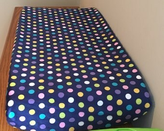 Minky Changing Pad Cover, Colorful Dots Changing Pad Cover, Baby Shower Gift, Polka Dot Changing Pad, Bassinet Sheet, Baby Branch Boutique