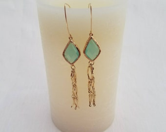 Light Blue Dangle Earrings