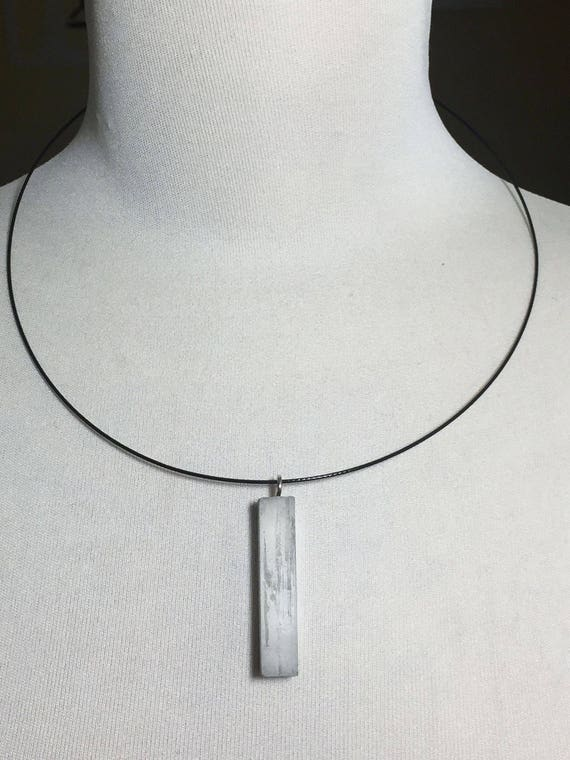 Choker Chain Necklace concrete jewelry gray made of concrete collier