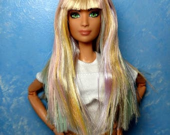 Rosette - OOAK Face-up & Rerooted 1/6 scale, SUPER articulated 11 1/2 inch fashion doll