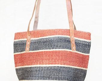 Africa basket black kenya bag straw market bag straw tote straw beach bag handmade african bag Beige Straw bag woven basket woven straw bag