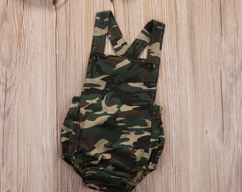 Baby Army Rompers Jumpsuit