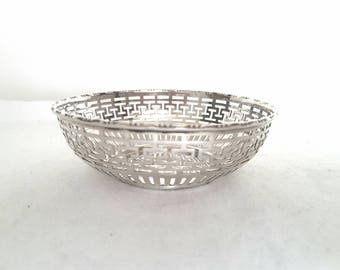 Vintage Silver Plate Bon Bon Dish