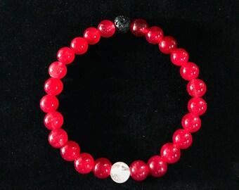 Red Agate Lava Rock Quartz Sodalite Onyx Alabaster Balance Bracelet Positivity Energy Vibes Genuine Gemstone
