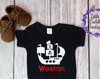 Pirate First Birthday One Piece, Pirate Birthday, Boy First Birthday Outfit, Baby Onesie, Cute Birthday Onesie, Boy Onesie, Funny Boy Onesie