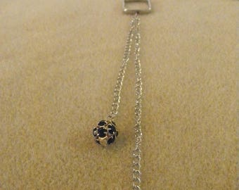 silver chain necklace.