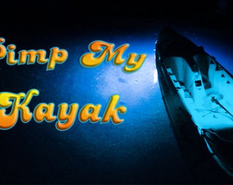 Pimp my Kayak (BLUE) LED Lighting Kit DIY with Red & Green Navigation lights