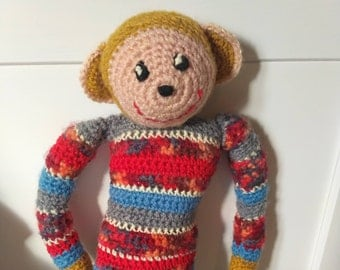 Henry the stuffed monkey, hand-made stuffed animal